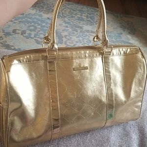 🧡3 for$20 BCBGMAXAZRIA Gold Large Tote Bag